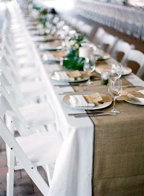 Diy Burlap Table Runner by Burlap For Your Rustic Wedding