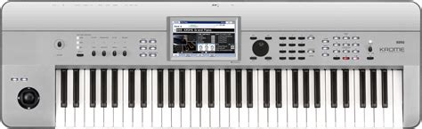 Keyboard Korg Krome 61 by Korg Krome 61 Platinum Keymusic