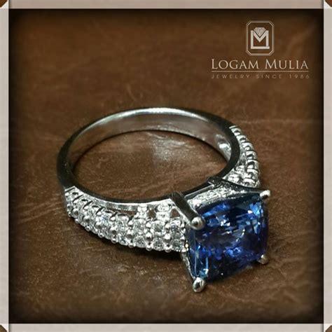 Blue Sapphire Rasa Srilangka Batu Cincin Liontin Kalung 005 jual cincin berlian wanita dg blue sapphire crw sd mj2222r 1 edel logammuliajewelry