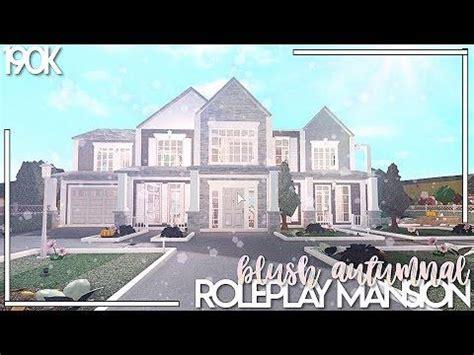 bloxburg blush autumnal roleplay mansion speed build