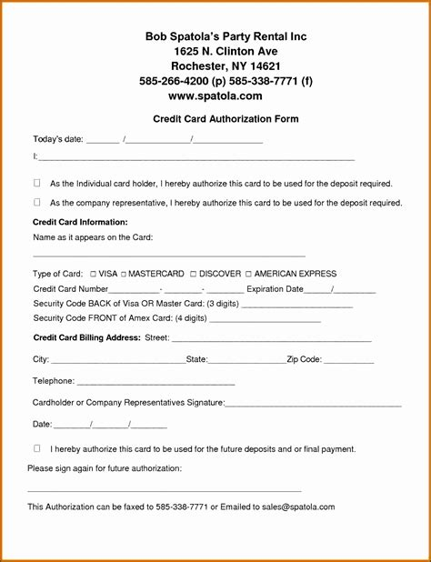 Credit Card Billing Authorization Form Template Free by 6 Credit Card Billing Authorization Form Template
