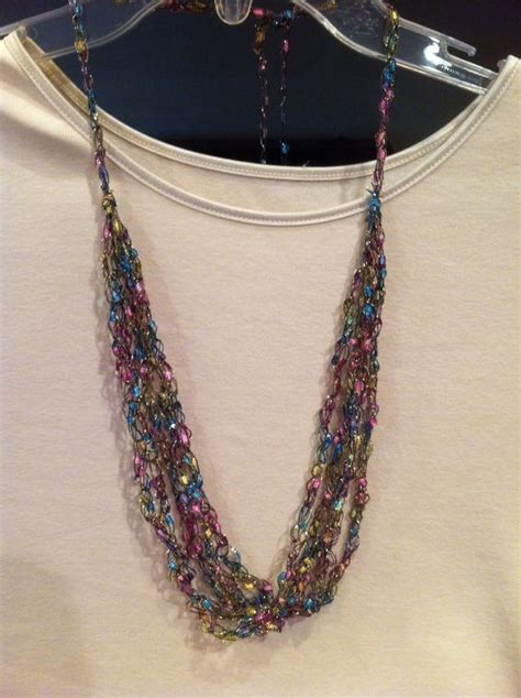 free pattern ladder yarn necklace ladder yarn necklace ladder yarn projects pinterest