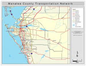 manatee county road network color 2009