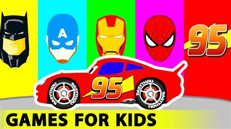 red colors for kids youtube red truck and cars cartoon for kids in funny race w colors
