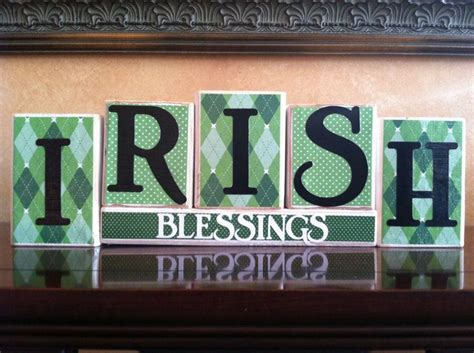 blessings home decor st patricks day home decor wood irish blessings blocks