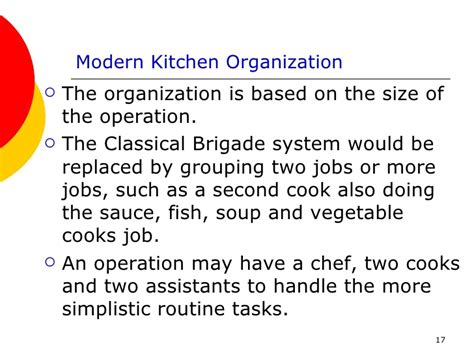 modern kitchen brigade the food service industry