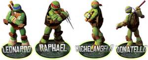Teenage mutant ninja turtles names and colours images amp pictures