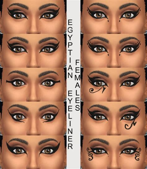 mod the sims acute eyeliner 10 styles 10 egyptian eyeliners by simmiller at mod the sims via
