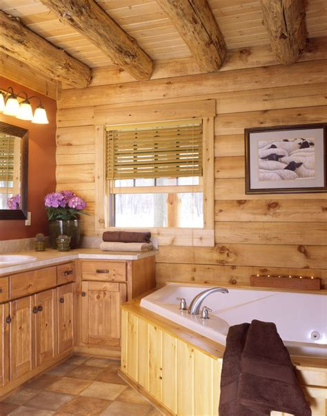 log home bathrooms luxury log homes 171 real log style