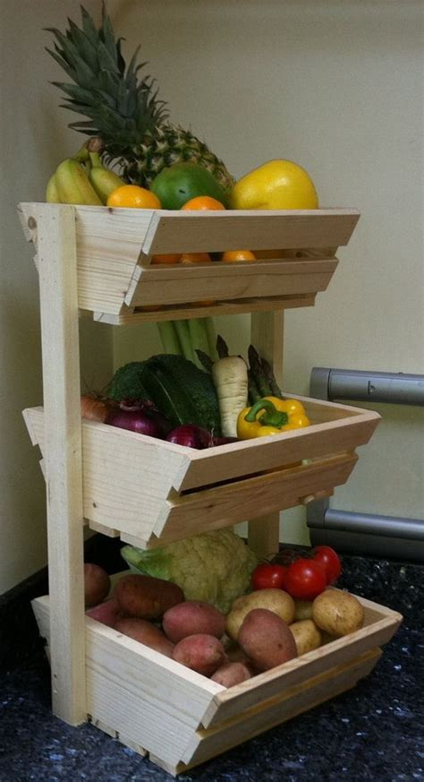 Fruit And Veg Rack by Three Tier Vegetable Rack Co Uk Kitchen Home