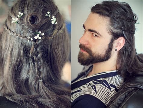 norse male hair styles men s heroic warrior hairstyles gaelic braids gothic