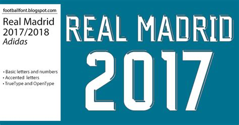 Jersey Real Madrid Away 2018 New Season football fonts real madrid 2017 2018 jersey font