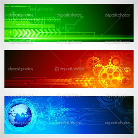 design technology banner technology banner stock vector 169 vectomart 12071552