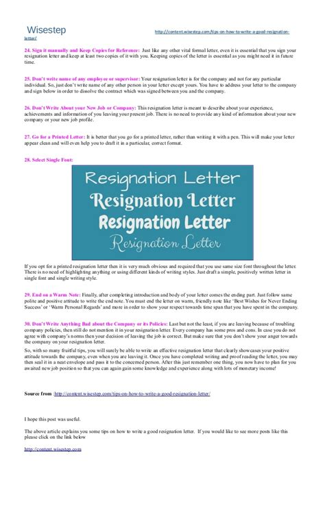 30 best tips on how 30 best tips on how to write a resignation letter