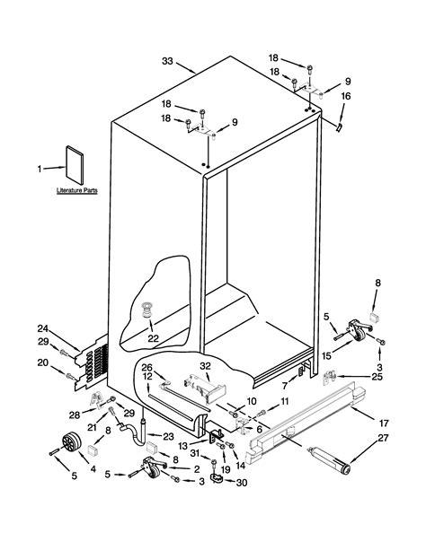 whirlpool cabinet maker whirlpool refrigerator parts model wrs322fdam04 sears
