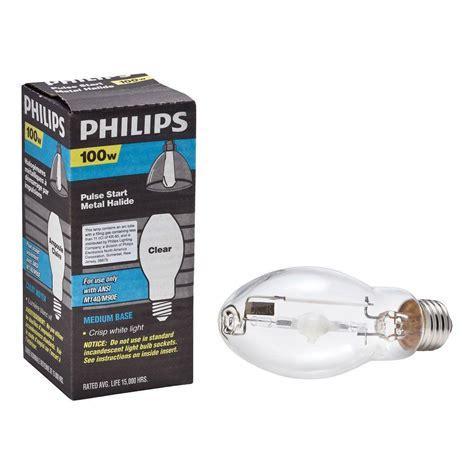 Lu Philips 100 Watt philips 100 watt metal halide hid light bulb 406033 the