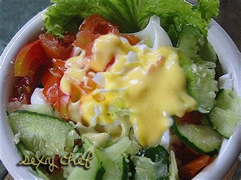 membuat salad sayur tanpa mayones sexy chef selada padang