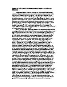 Antony And Cleopatra Essay by Antony And Cleopatra Essay