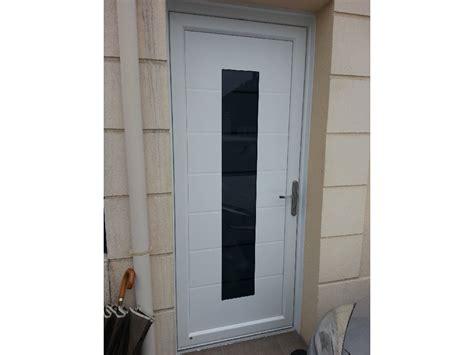 porte d entr 233 e pvc aluminium blanche vitr 233 e