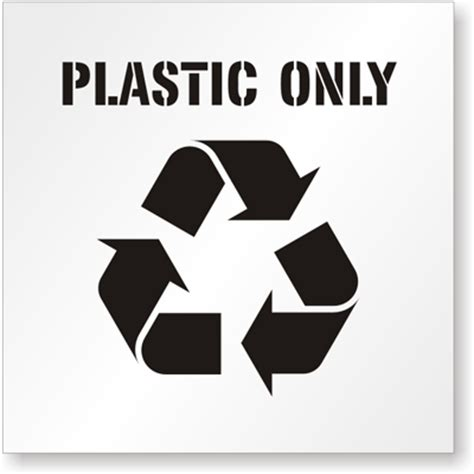 logo st for plastic plastic only floor stencil recycle plastic labels and