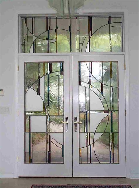door pattern furniture white double retro style swing door featuring decorative glass pattern and curved