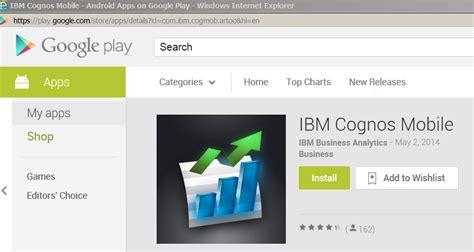 cognos mobile app business analytics anywhere ibm cognos mobile ironside