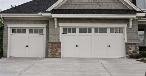 Single Garage With Awning by Residential White Carriage Garage Doors With Top Windows