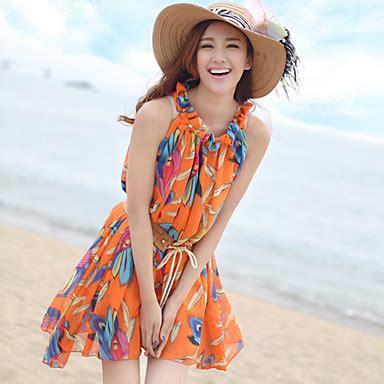 Boho Dress Baju Pantai s bohemian halter dress with belt 527418 2016