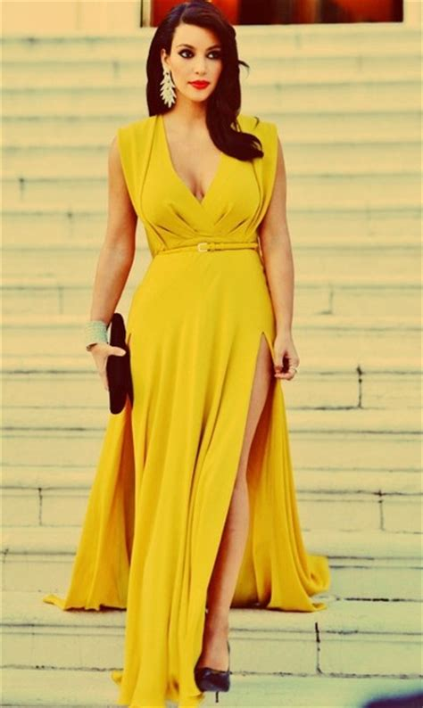 kim kardashian mustard dress yellow mustard dress graduation party pinterest