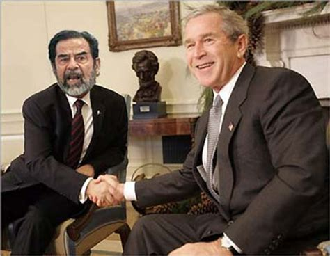george w bush shocked saddam hussein didn t believe he would invade musings 187 blog archive 187 saddam goes for a long stretch