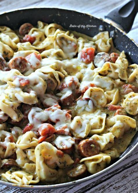 turkey sausage alfredo pasta recipe pesto alfredo tortellini with smoked sausage recipe