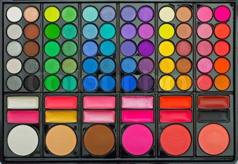 makeup colorful eyeshadow palettes as background stock