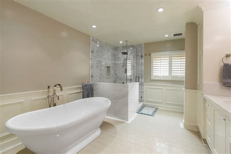 bathroom with separate shower and bathtub a master bath retreat with soaking tub and separate shower nott associates