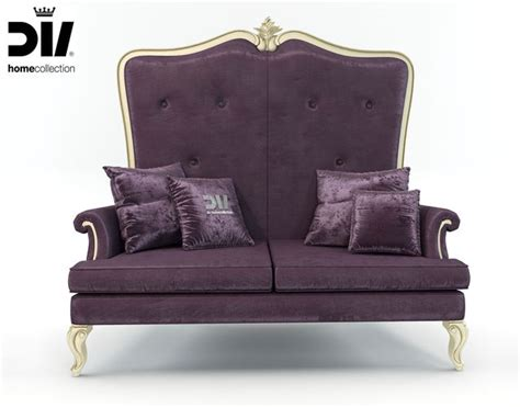 high back settee keoki 3d high back settee with arms high back classic elegant sofa by dv home collection 3d