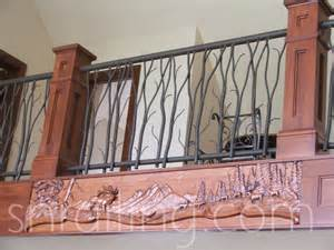 Iron Handrails Exterior Residential Railings Traditional Staircase Salt Lake