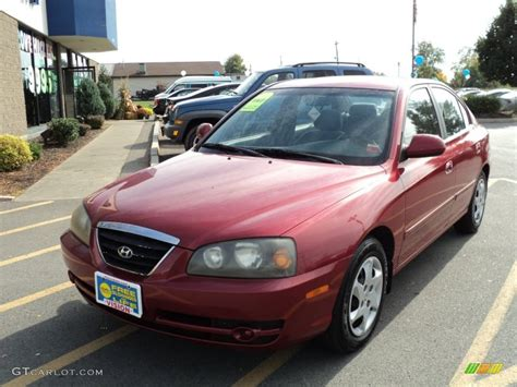 2004 crimson hyundai elantra gls sedan 55138577 gtcarlot car color galleries
