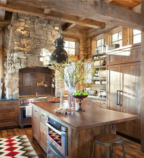 rustic cabin kitchen ideas rustic ski lodge home bunch interior design ideas