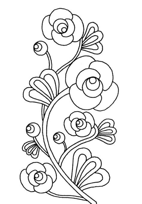 imagenes de flores faciles para colorear flores para colorear f 225 ciles dificiles y hermosas