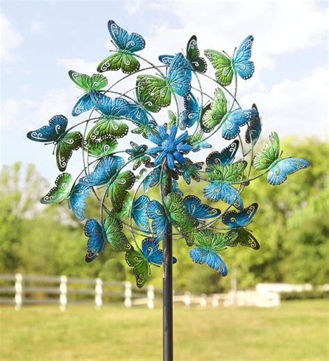 Garden Spinners And Decor Butterflies Metal Wind Spinner Fresh Garden Decor