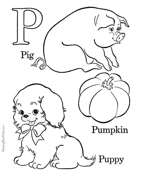 coloring page of letter p abc coloring sheet letter p 020