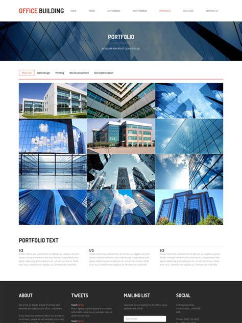 Building Construction Templates construction building website template office building