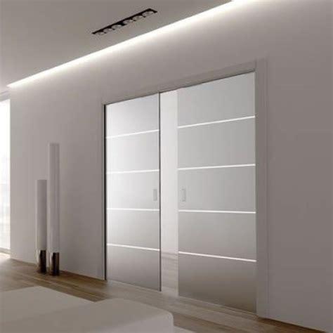 Sliding Glass Pocket Door Eclisse Patterned Glass Sliding Pocket Door System Door Kit Supplied With Glass Doors