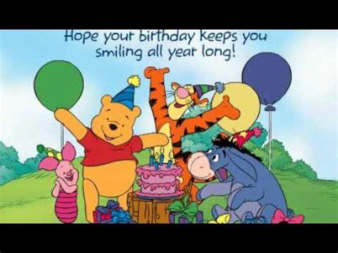 Winnie Pooh Birthday Cards