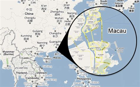 macao on world map macau map