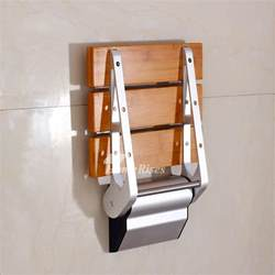 bathroom shower seats wall mounted dpxe bamboo teak wood grating wall mounted folding