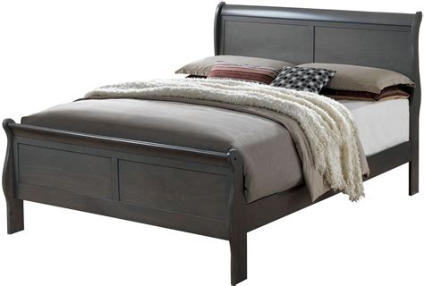gray sleigh bed louis philippe iii gray sleigh bedroom set