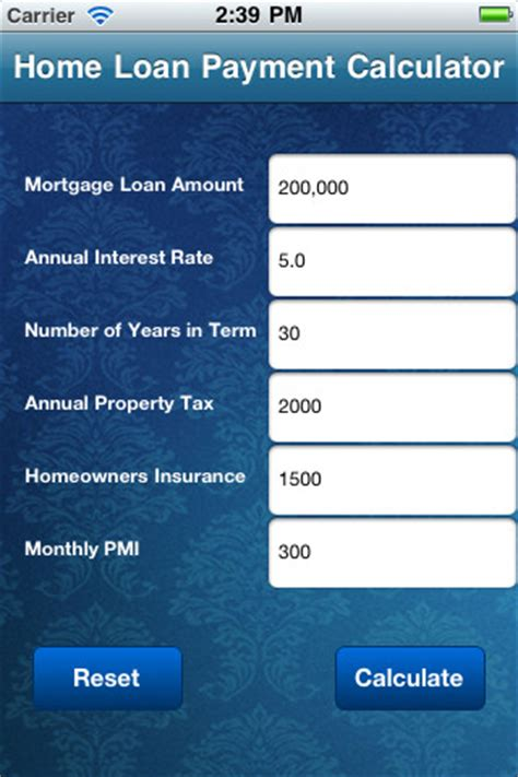 home mortgage loan payment calculator 1 0 app for