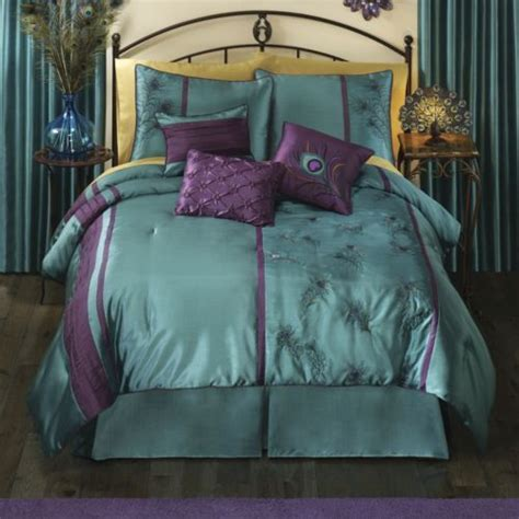 peacock feather comforter set peacock ropa de cama y cortinas de terciopelo midnight