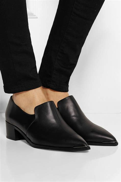 acne loafers acne studios jaycee leather loafers net a porter
