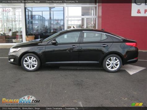 Black On Black Kia Optima 2011 Kia Optima Ex Black Beige Photo 2